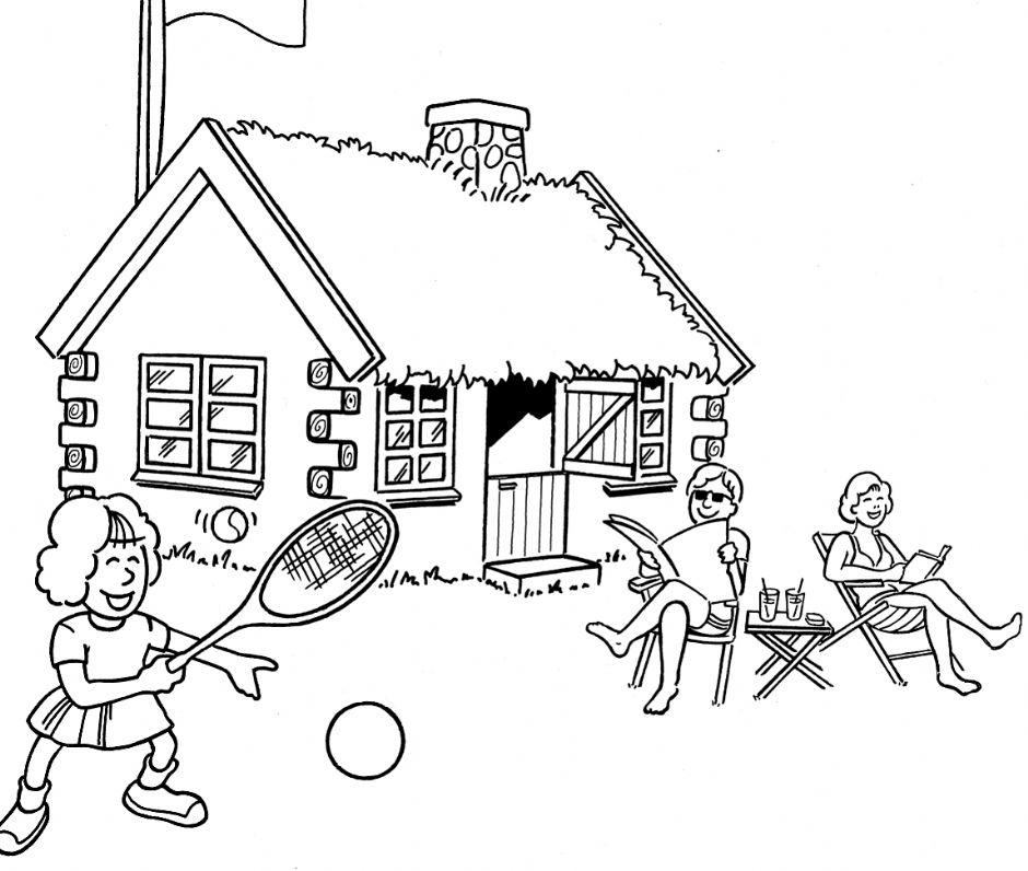 Image result for sommerhus tegning